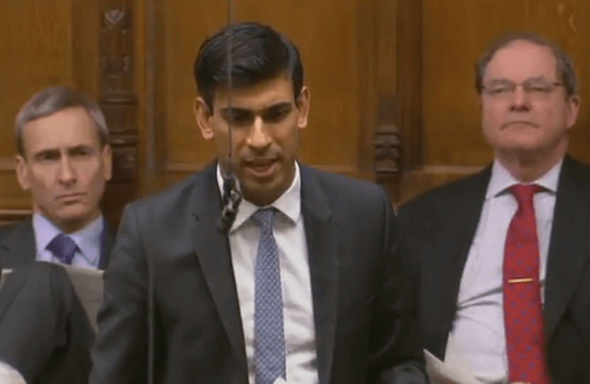 Rishi Sunak in the Commons