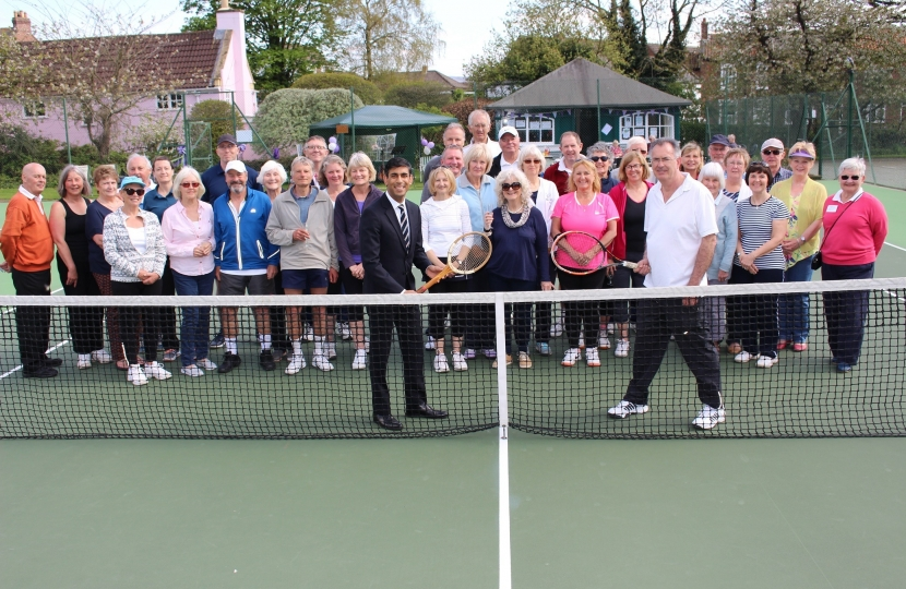 Rishi Sunak at Great Ayton Tennis Club