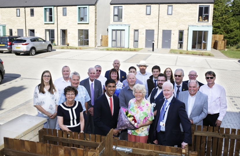 Rishi Sunak at Gilling West affordable housing scheme