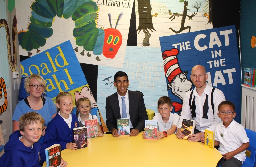 Rishi Sunak at Hutton Rudby Primary School