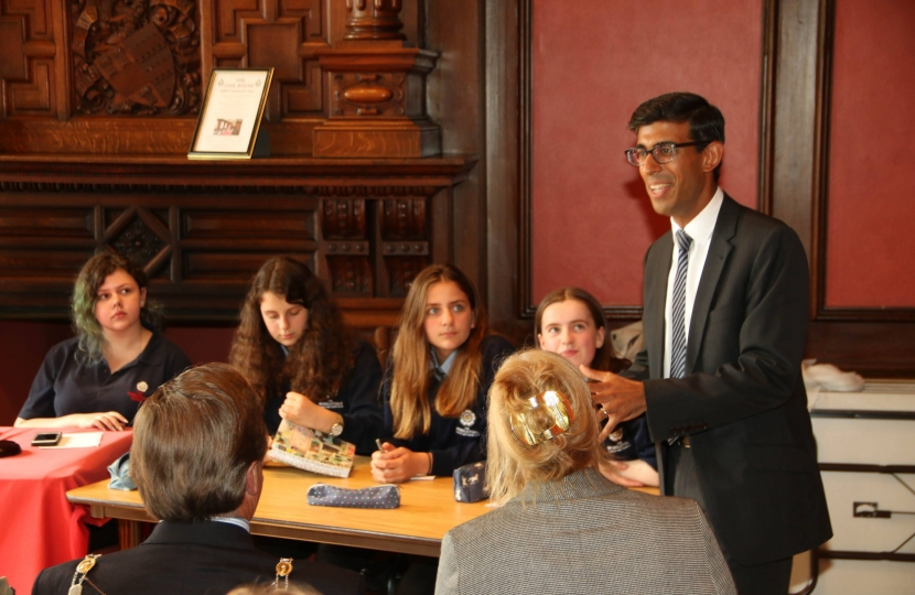 Rishi Sunak at Wensleydale School debate