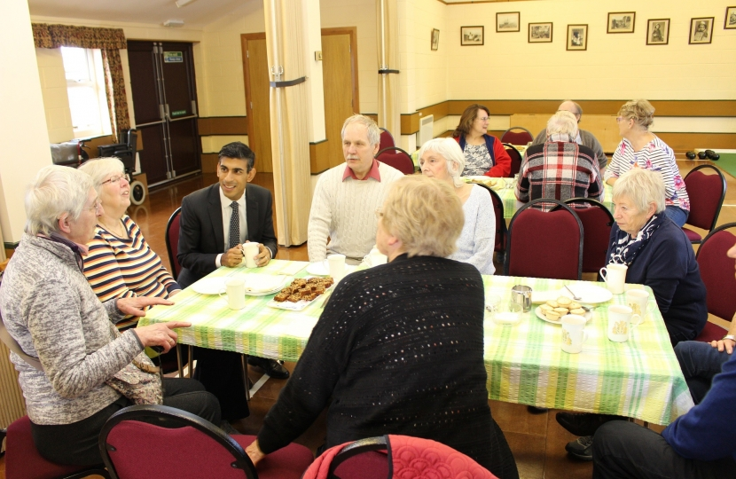 Rishi Sunak at Welbury Village Hall