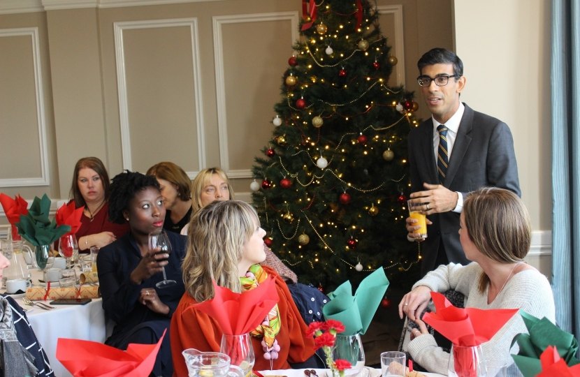 Rishi Sunak at the Dales Business Women lunch in Leyburn