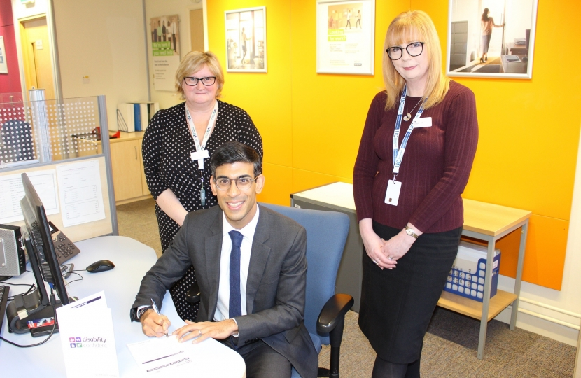 Rishi Sunak is Disability Confident