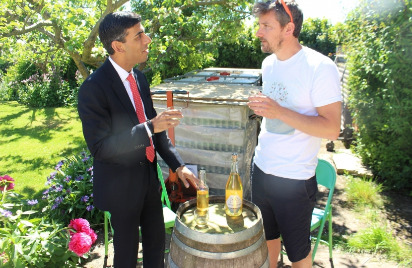 Rishi Sunak at Thornborough Cider