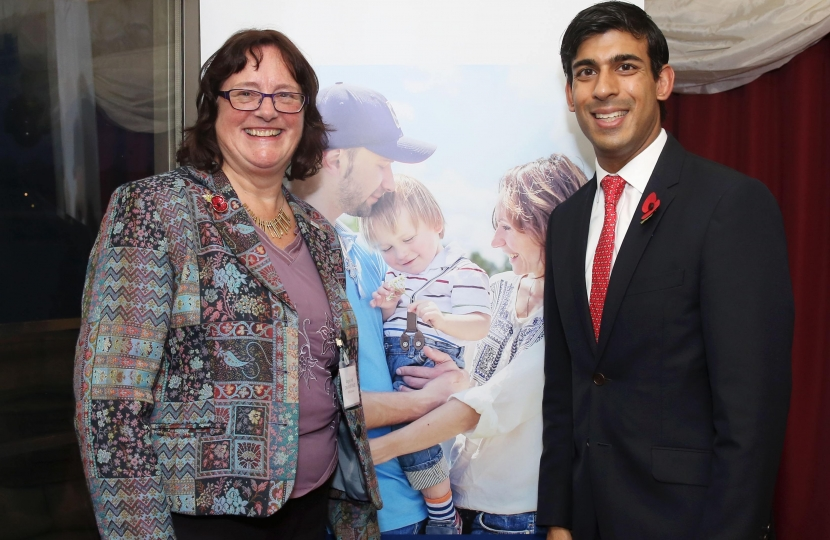 Angela Wall and Rishi Sunak in the House of Lords