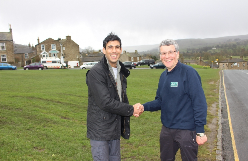 Rishi Sunak and Derek Cockell