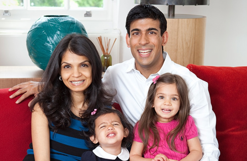 Rishi Sunak and family