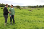 Rishi speaks to tenant farmer James Dent on his farm at Swinithwaite